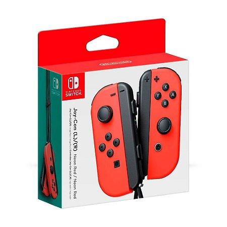 Controle Nintendo Joy-Con (Esquerdo e Direito) Vermelho - Switch