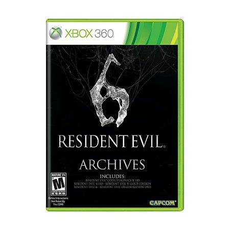 Jogo Resident Evil 6 (Archives) - Xbox 360