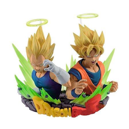 Action Figure Super Saiyan Goku & Vegeta (Com: Figuration Gogeta Vol. 2) Dragon Ball Z - Banpresto