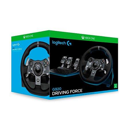 46b1ffd38de Volante Logitech Driving Force G920 - Xbox One e PC - ShopB - 10 anos!