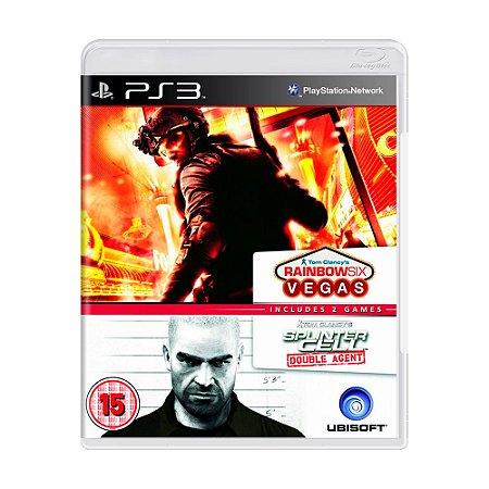 Jogo Tom Clancy's Rainbow Six: Vegas + Tom Clancy's Splinter Cell: Double Agent - PS3
