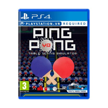 Jogo Ping Pong: Table Tennis Simulator - PS4 VR