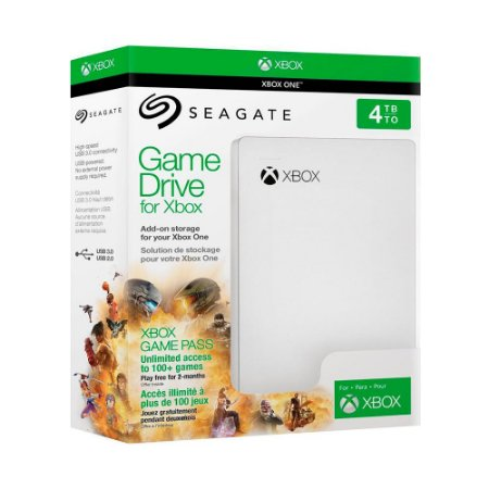 Game Drive Seagate 4TB + Xbox Game Pass 2 Meses - Xbox