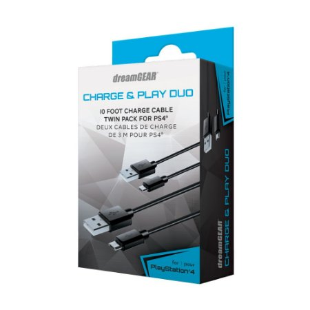 Cabo Carregador Charge & Play Duo dreamGEAR - PS4