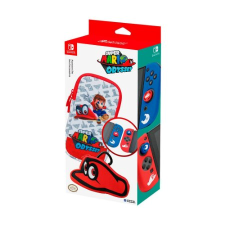 Conjunto de Acessórios Hori (Super Mario Odyssey) - Switch