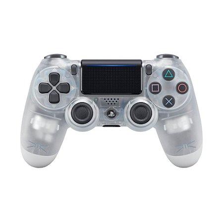 Controle Sony Dualshock 4 Crystal sem fio (Com led frontal) - PS4