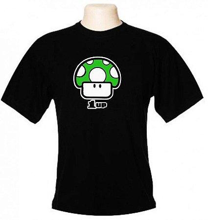 Camiseta Wimza 1UP - Cogumelo Verde - Mario