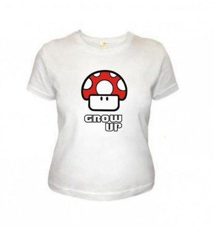 Camiseta Wimza Grow Up - Super Mario - Cogumelo Vermelho