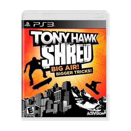 Jogo Tony Hawk Shred Big Air! Bigger Tricks! - PS3