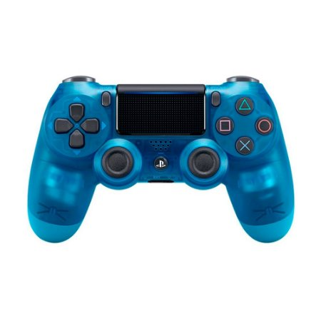 Controle Sony Dualshock 4 Crystal Blue sem fio (Com led frontal) - PS4