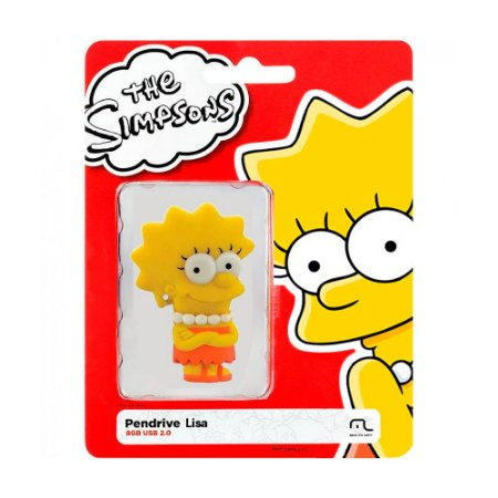 Pen Drive Multilaser The Simpsons: Lisa 8GB – PC e Mac