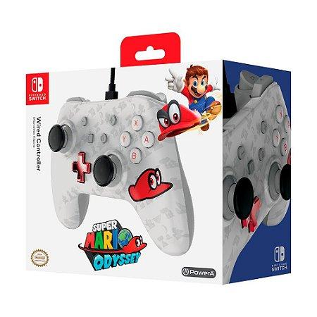 Controle PowerA com fio (Super Mario Odyssey) - Switch