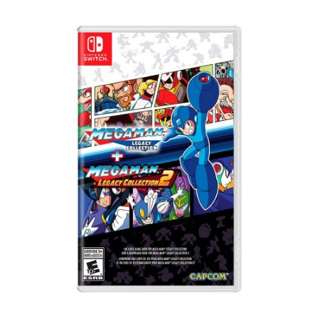 Jogo Mega Man Legacy Collection 1 + 2 - Switch