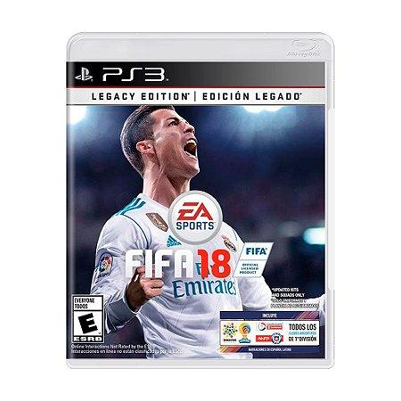 Jogo FIFA 18 (Legacy Edition) - PS3