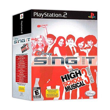 Jogo Disney Sing It: High School Musical 3 Senior Year (Bundle) - PS2