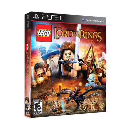 "Jogo LEGO The Lord of the Rings + Filme ""The Lord of the Rings: The Fellowship of the Ring"" - PS3"