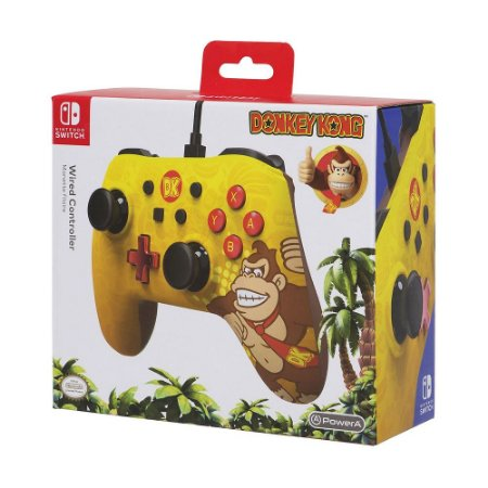 Controle PowerA com fio (Donkey Kong Edition) - Switch