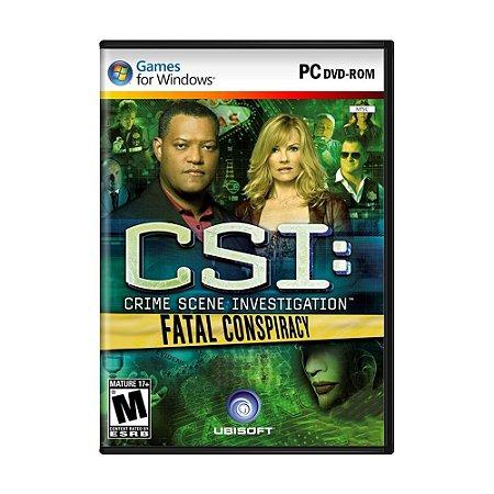 Jogo CSI: Fatal Conspiracy - PC