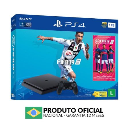 Console PlayStation 4 Slim 1TB + FIFA 19 - Sony