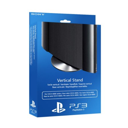 Base Suporte Vertical Sony Prata - PS3 Super Slim
