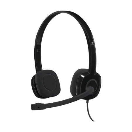 Headset Logitech H151 Stereo com fio - PC, Mobile