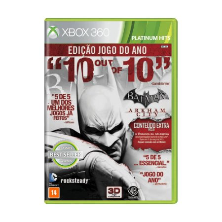 Jogo Batman: Arkham City (Edição Jogo do Ano) - Xbox 360