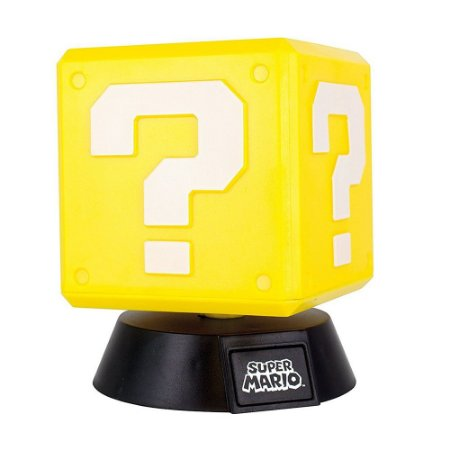 Luminária Question Block Light 001 Super Mario - Paladone