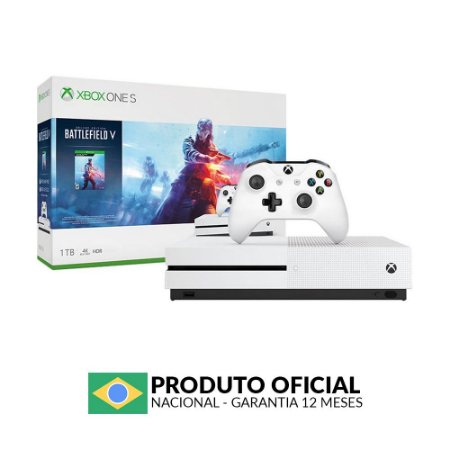 Console Xbox One S 1TB (Pacote Battlefield V) - Microsoft