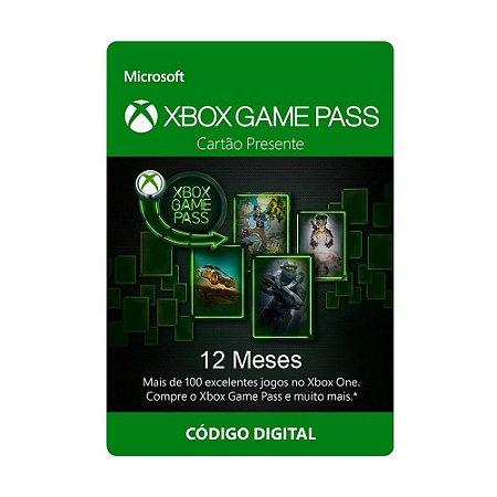 Cartão Xbox Game Pass 12 Meses - Microsoft