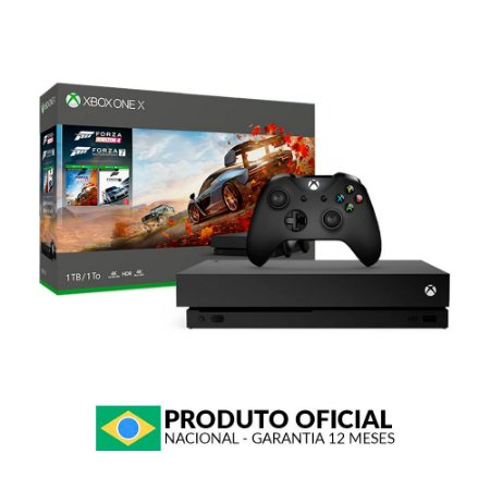 Console Xbox One X 1TB (Pacote Forza Horizon 4) - Microsoft