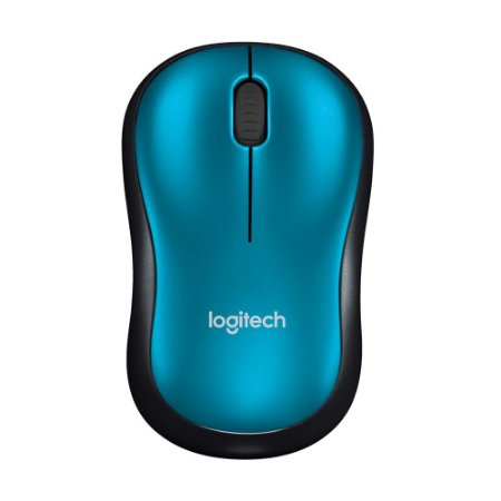 Mouse Logitech M185 Azul sem fio