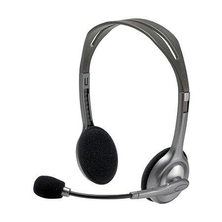 Headset Logitech H110 Stereo com fio