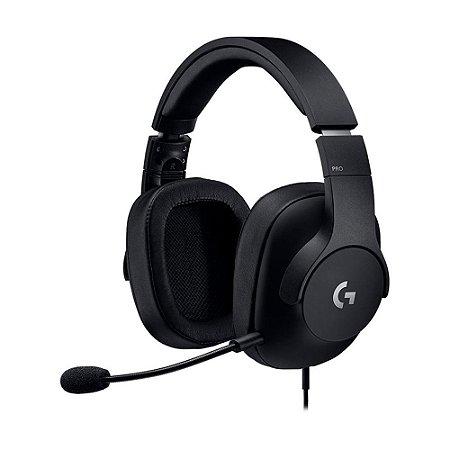 Headset Gamer Logitech Pro com fio - Multiplataforma