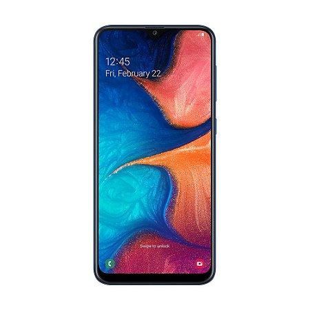 """Smartphone Samsung Galaxy A20 32GB 13MP Tela 6,4"""" Azul"""