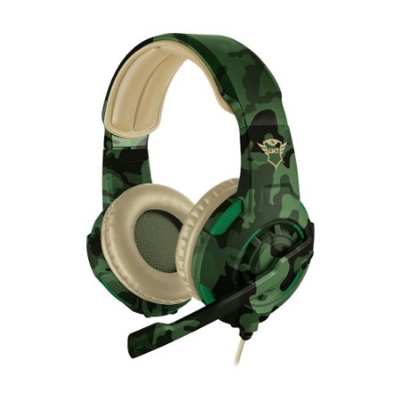 Headset Gamer Trust GXT Radius Jungle Camo com fio - Multiplataforma