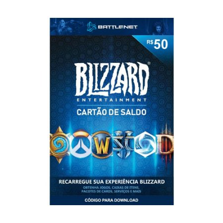 Cartão Presente Blizzard Battle.Net R$50