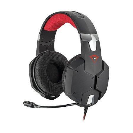 Headset Gamer Trust GXT Carus Preto com fio - Multiplataforma
