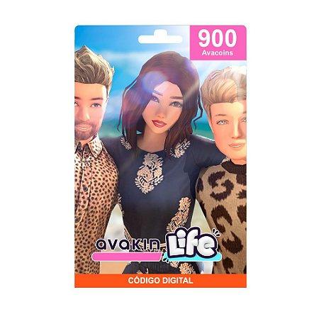 Cartão Presente Avakin Life 900 Avacoins