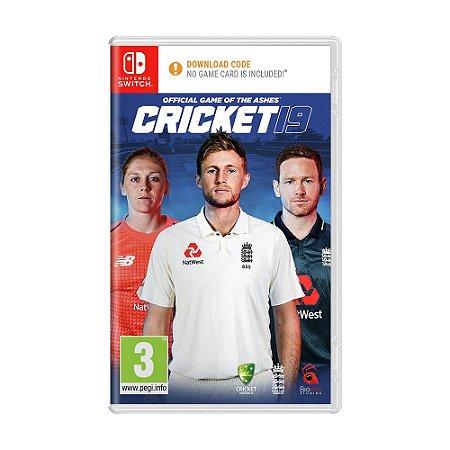 Jogo Cricket 19 - Switch