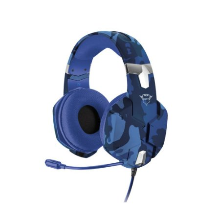 Headset Gamer Trust GXT Carus Blue Camo com fio - PS4