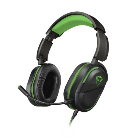 Headset Gamer Trust GXT Legion Preto e Verde com fio - Xbox One