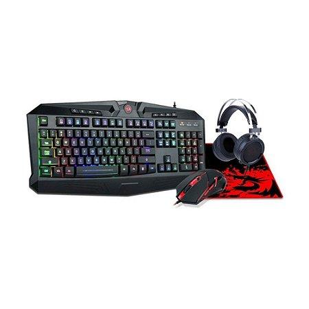 Kit Redragon Gaming Essentials 4 em 1 S112 com fio