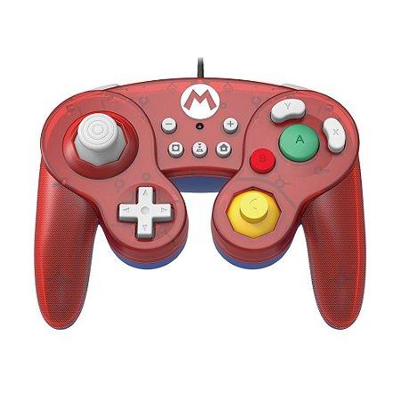 Controle Gamecube Hori Mario (Edição Super Mario) com fio - Switch