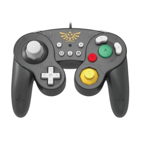 Controle Gamecube Hori (Edição The Legend of Zelda: Breath of the Wild) com fio - Switch