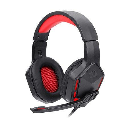 Headset Gamer Redragon Themis Preto e Vermelho com fio - PC