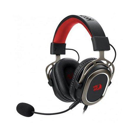 Headset Gamer Redragon Helios 7.1 Preto e Vermelho com fio - PC