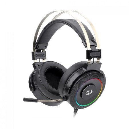 Headset Gamer Redragon Lamia 7.1 RGB Preto com fio - PC