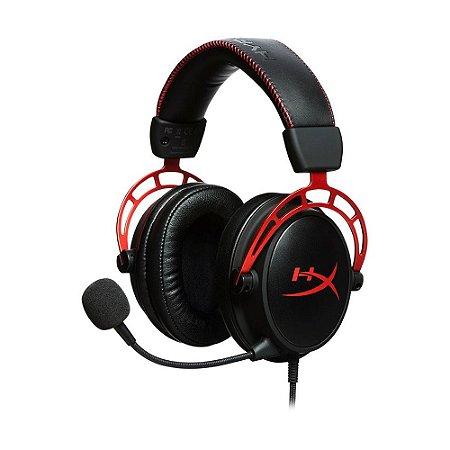 Headset Gamer HyperX Cloud Alpha HX-HSCA-RD/AM Preto e Vermelho com fio - Multiplataforma