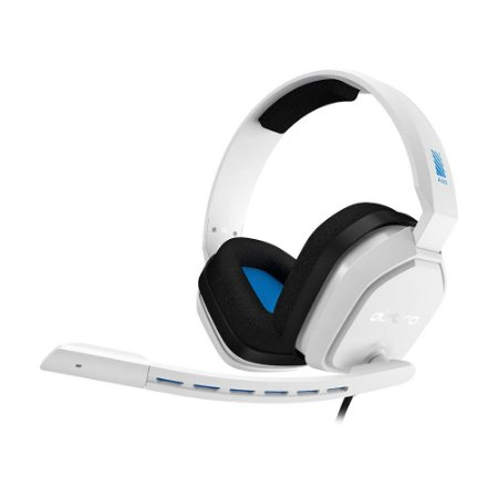 Headset Gamer Astro A10 Branco e Azul com fio - Multiplataforma
