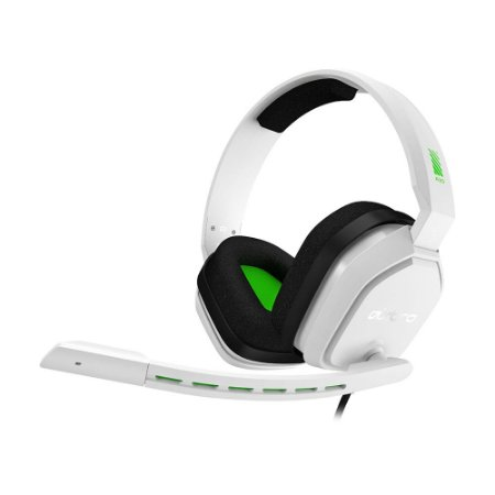 Headset Gamer Astro A10 Branco e Verde com fio - Multiplataforma